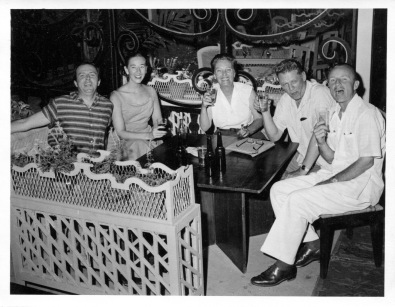 Apr. 1956 at Grand Hotel: George, Eloise, Pauline Sherwood, George Sherwood, Ellis Dungan