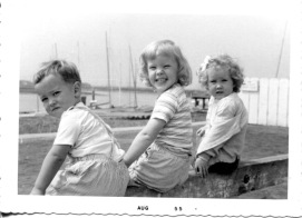 San Francisco, 1955: Michael Walsh, Vicky and Susan Rathbun