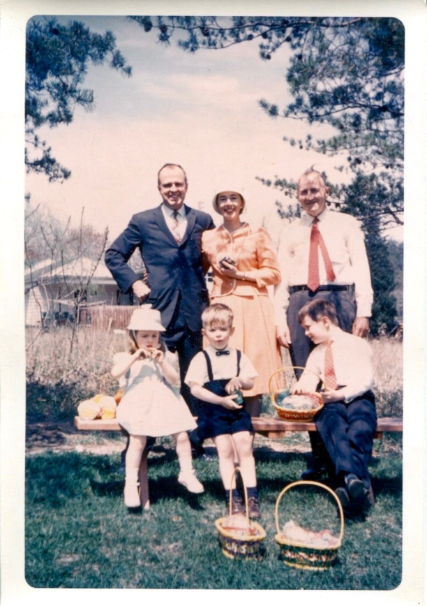 April 22, 1962: George, Eloise, Michael J., Louisa, Frank, Michael R. Walsh