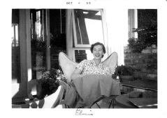 Eloise in Rathbun Portola Valley home, Oct. 1955