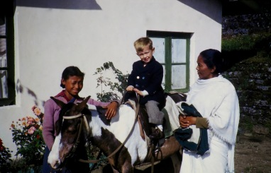 Darjeeling: Michael's first horseback ride